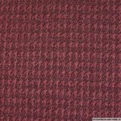 Maille contrecollée imprimée pied de poule rouge
