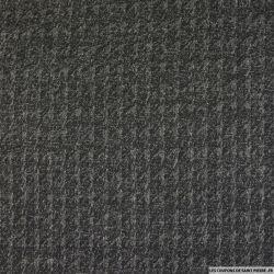 Maille contrecollée imprimée pied de poule noir