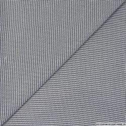 Pied de puce polycoton noir et blanc