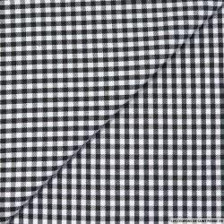 Carreaux 5mm polycoton noir et blanc