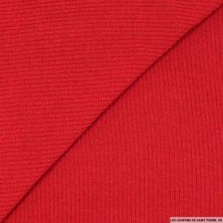 Maille tricot côtelée rouge