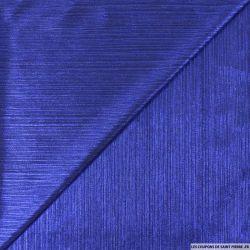 Crêpe plissé imprimé bleu