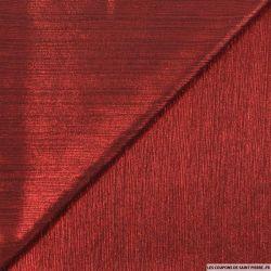 Crêpe plissé imprimé rouge