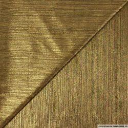 Crêpe plissé imprimé doré