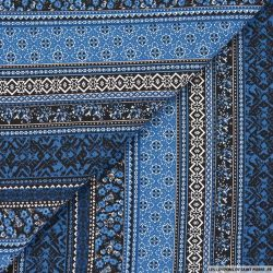 Jersey imprimé viscose Union bleu