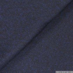 Laine mélangée tricot bleu et noir