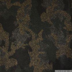Maille de laine mélangée camouflage