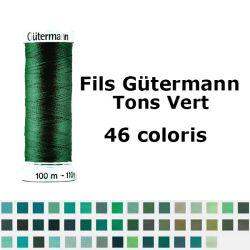 Fil pour tout coudre 100m - Tons Vert - Gütermann