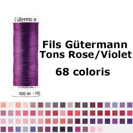 Fil pour tout coudre 100m - Tons Rose/Violet - Gütermann