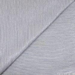 Jersey lurex tricot fond blanc
