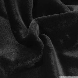 Fourrure synthétique à poils mi-long noir
