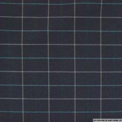 Bengaline polyester tartan fond marine