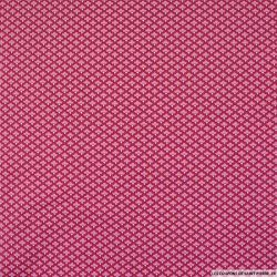 Coton imprimé petit nuage rose