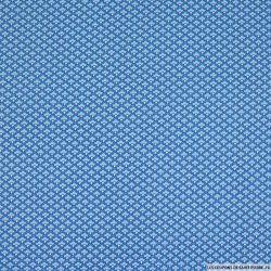 Coton imprimé petit nuage bleu
