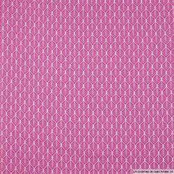 Coton imprimé par l'union fond rose
