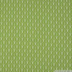 Coton imprimé par l'union fond vert