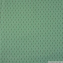 Coton imprimé par l'union fond vert lichen