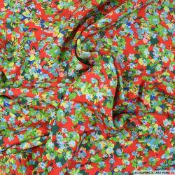 Microfibre imprimée majestueux fond rouge