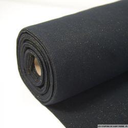 Bord côte lurex or fond noir vendu au mètre