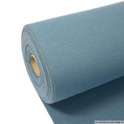 Bord côte lurex or fond bleu barbeau vendu au mètre