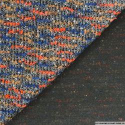 Tweed fantaisie orange et bleu