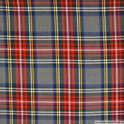 Clan écossais polyviscose rouge et marine