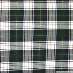 Clan écossais polyviscose vert et blanc