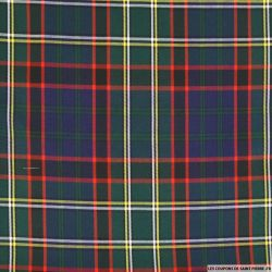 Clan écossais polyviscose vert, marine et rouge