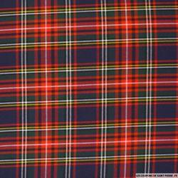 Clan écossais polyviscose marine ligne rouge