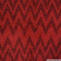 Maille polycoton à poils longs chevron rouge