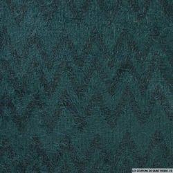 Maille polycoton à poils longs chevron vert