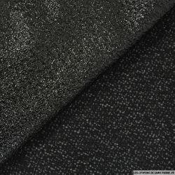 Tweed double face simili cuir noir