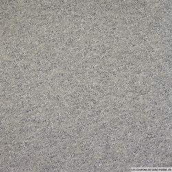 Jersey molleton chiné gris