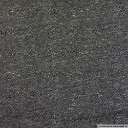 Jersey molleton chiné noir