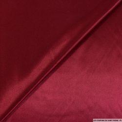 Satin Polyester uni rouge bordeaux