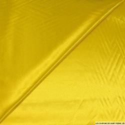 Satin Polyester uni jaune éclair