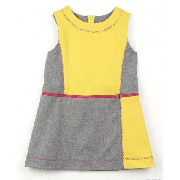 Patron Modes & Travaux - Robe 3 en 1 pour fillette et robe chasuble pour poupée