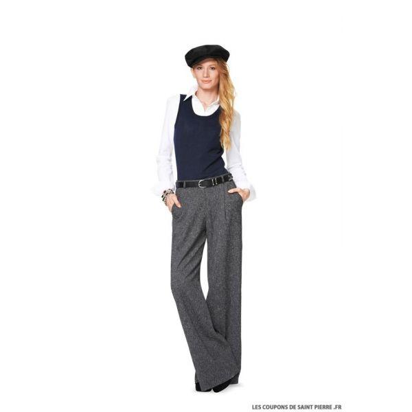 Patron n°6856 : Pantalon avec plis à la taille