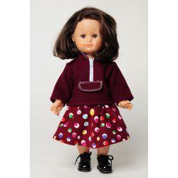 Patron Modes & Travaux - Sweat-shirt et jupe pour fillette et poupée