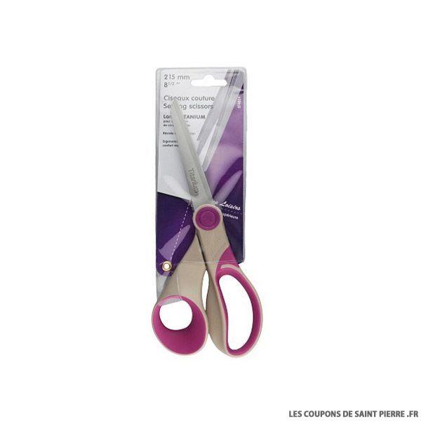 Ciseaux couture lame titanium 21,5 cm