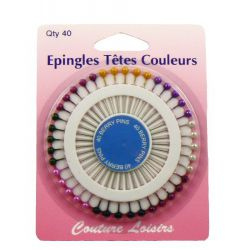 Epingles têtes perles X40 - 38 mm x 0.62 mm