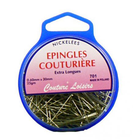 Epingles cout. nick extra long. ±360 25g 30 x0,6mm