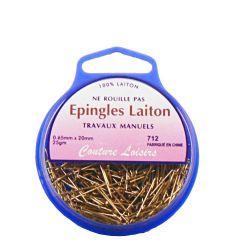 Epingles trav. manuels laiton ±450 25g- 20x0,65mm