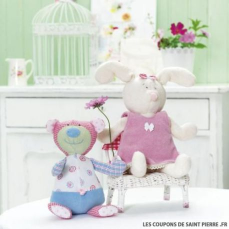 Patron n°7409 : Lapin et Ours