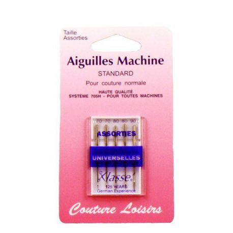 Aiguilles machine universelles assorties X5