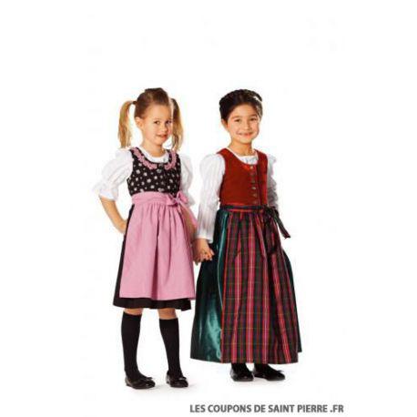 Patron n°9509 : Robe folklore pour fille