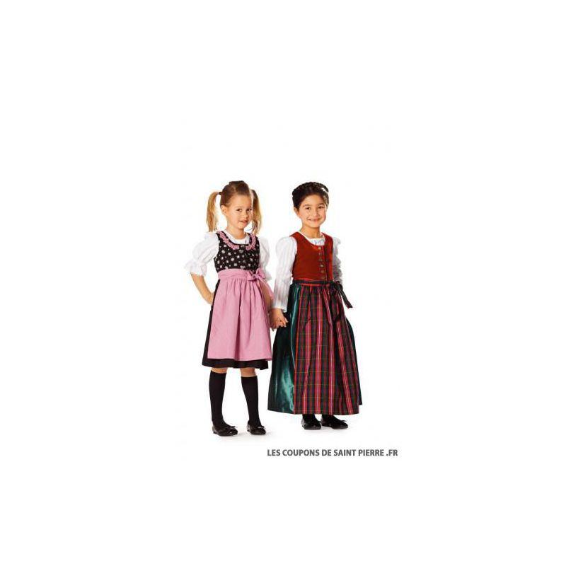 patron n 9509 robe folklore pour fille. Black Bedroom Furniture Sets. Home Design Ideas