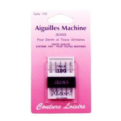 Aiguilles machine jeans X5 - 100/16