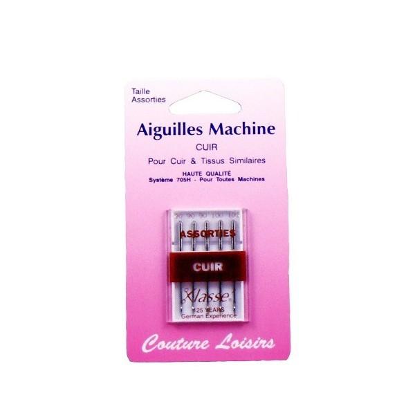 Aiguilles machine cuir assorties X5