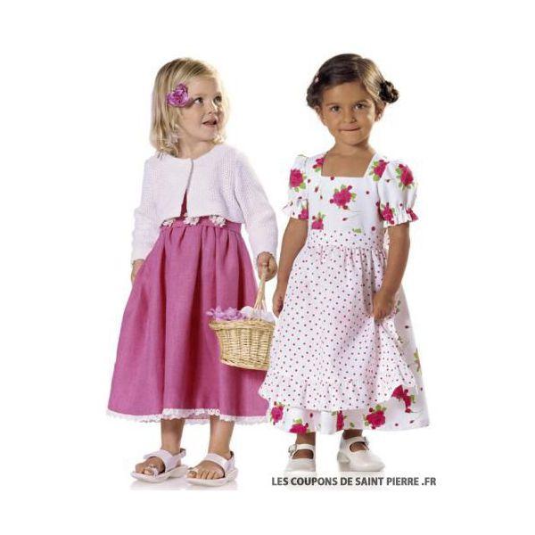Patron n°9702 : Robe et Veste petite fille